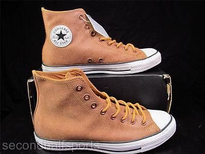 Converse Chuck Taylor All Star WHEAT BROWN Leather Sneaker Faded Washed 132151C