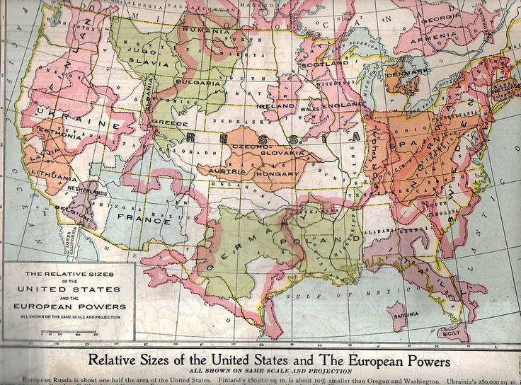 Best Oude Buitenlandse Landkaarten Images On Pinterest - Map of east us and europe