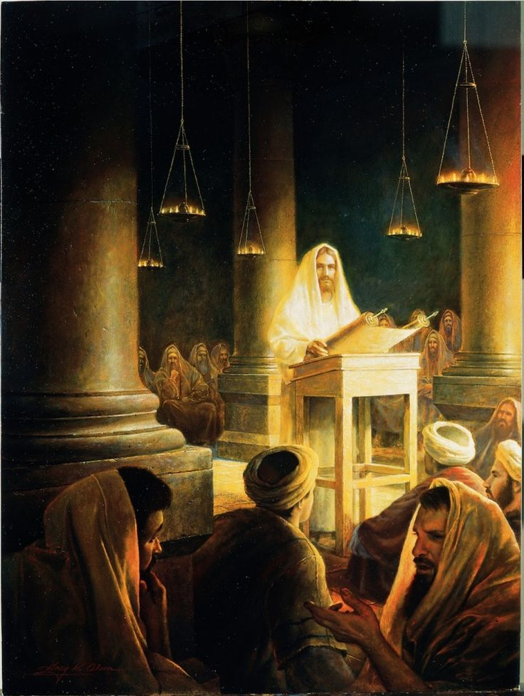 36 of my favorite pictures of Jesus Christ. Jesus preaching in the synagogue.