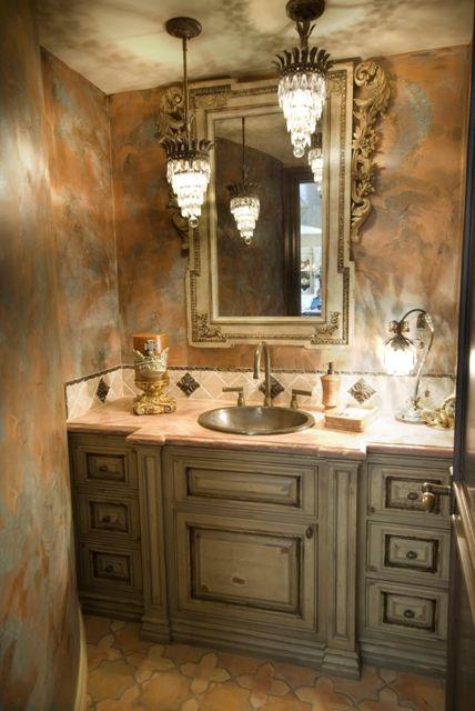 LOVE.: Cabinets Colors, Idea, Guest Bathroom, Bathroom Vanities, Wall Treatments, Bath Vanities, Master Bath, Powder Rooms, Bath Design