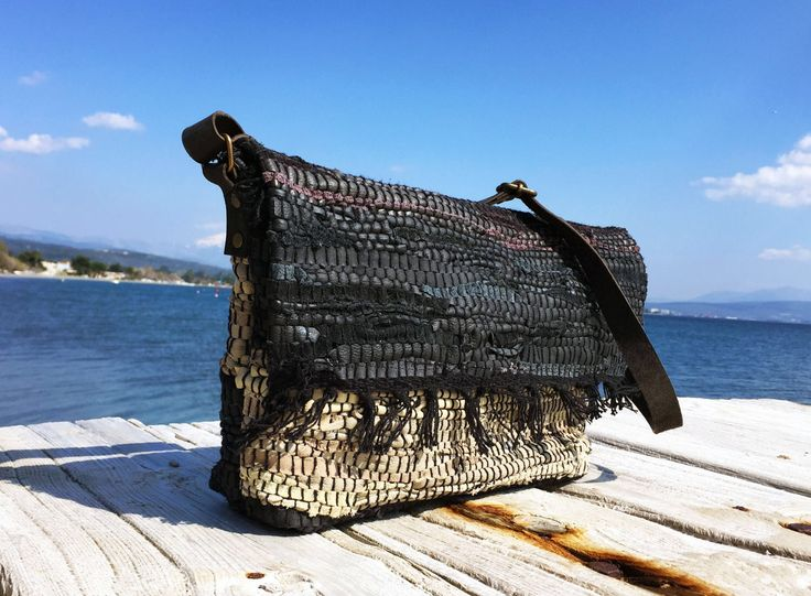 Black leather messenger bag. Black and Sand boho messenger with black leather handles. Vintage leather kilim. Shoulder handbag. Womens Gift by ThatHandmadeStore on Etsy https://www.etsy.com/listing/519667685/black-leather-messenger-bag-black-and