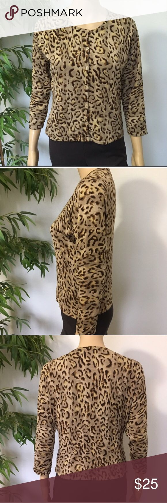 INC Animal Print Cardigan sis M New with tags animal print cardigan size M INC International Concepts Tops