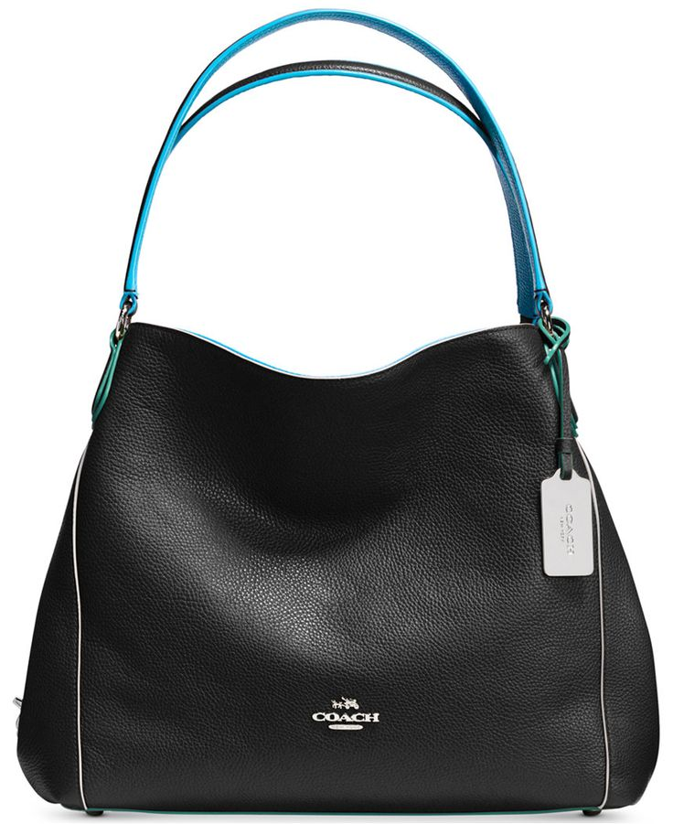 COACH Edie Shoulder Bag 31 in Edgestain Leather - Coach Handbags - Handbags  Accessories - Macys