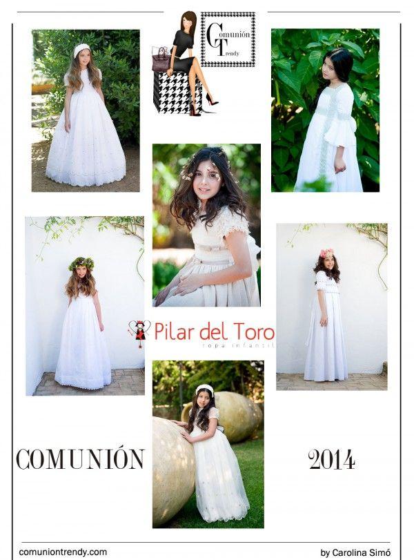 PILAR DEL TORO impresionantes vestidos de Comunión   COMUNIÓN TRENDY :: Mil ideas para organizar una Primera Comunión :: Vestidos de comunión, Recordatorios, Trajes de Comunión