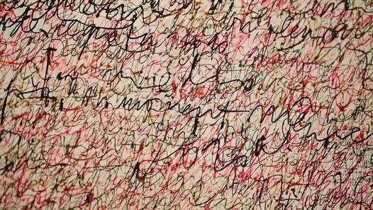 Saturée d'écritures, Écriture rose a été réalisée, durant une année entière, dans un effort désespéré de Simon Hantaï pour continuer à peindre.  Retrouvez l'événement sur le site internet du Centre Pompidou :  http://www.centrepompidou.fr/cpv/ressource.action?param.id=FR_R-d378dc427c929e63c8426c792f011a2&param.idSource=FR_O-95f7ed62b8220cac9c0afc5e7bdaab0