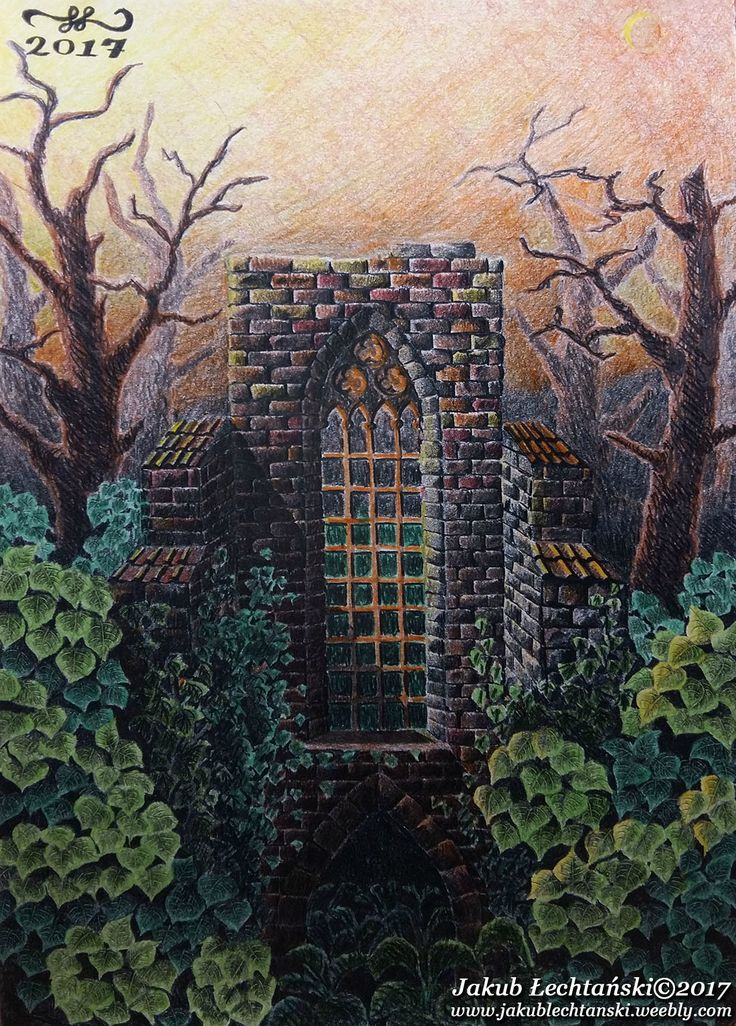 "Rysunek ""Ruiny kościoła"" 2017. Old Church Ruins"