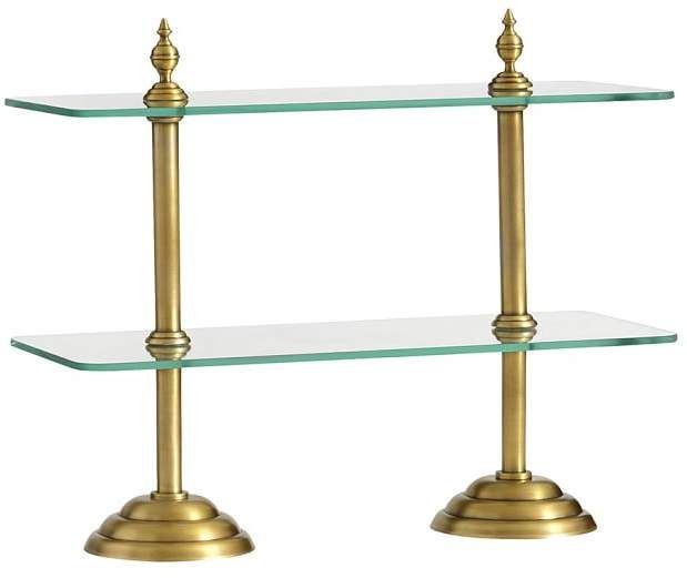 Pottery Barn Plaza Entertaining Stand Gold Classic Home