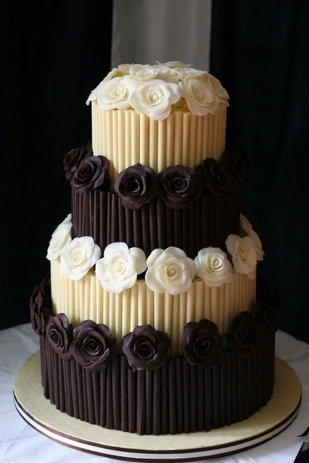 Dreamy Chocolate Tiered Cake