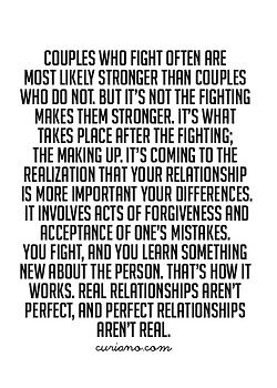 "Love the last sentence! ""Real relationships aren't perfect, and perfect relationships aren't real."""