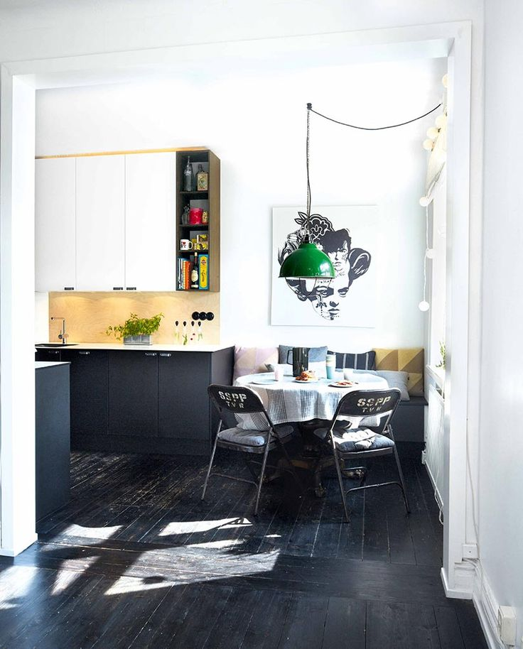 platsbyggt kök svart mdf wenge golv valv zacco moderskeppet stockholm