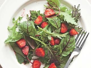 Summer Greens and Strawberries with Poppy Seed Dressing