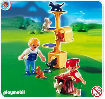 So cute!Trees 4347, Cat Scratch, 10 99 Playmobil, 1099 Playmobil, Playmobil 4347, Education Toys, Scratch Trees, Cities Life, Playmobil Cat
