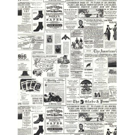 American Classics Headline News Wallpaper, Black