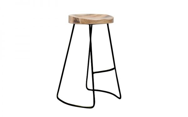 Tractor 65cm Stool - Black - Bar Stools & Chairs - Dining - Furniture