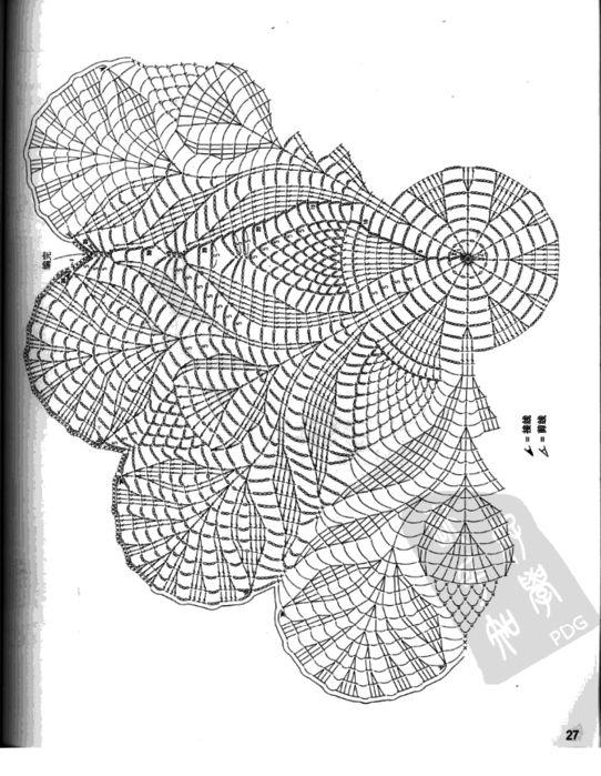 Crochet Lace Patterns Diagram : Best 25+ Crochet doily diagram ideas on Pinterest Free ...