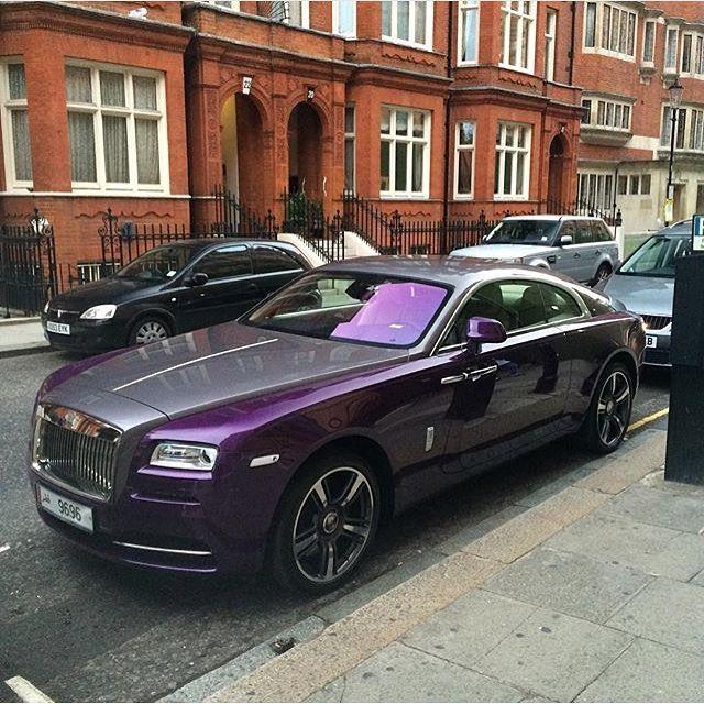 Purple Rolls Royce Wraith