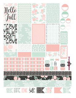 @planner.PICKETT: Hello Fall Floral Free Planner Sticker Printable