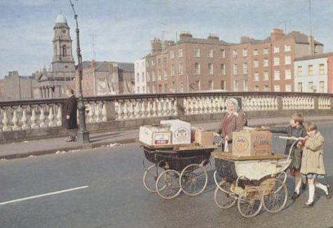 Prams in Dublin 1960s by MajorCalloway, via Flickr