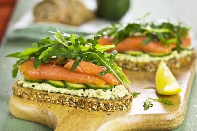Open-Faced Avocado Salmon Sandwich