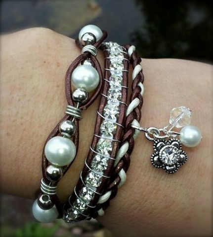 leather and bead