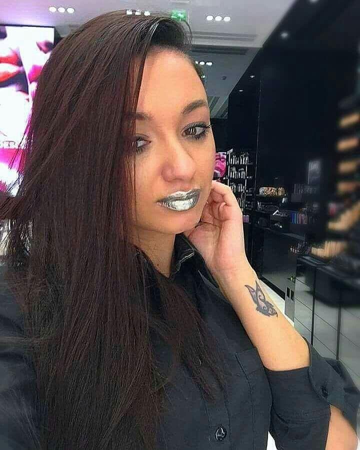 Metallic lips~mirror lips~platinum pigment~mac cosmetics