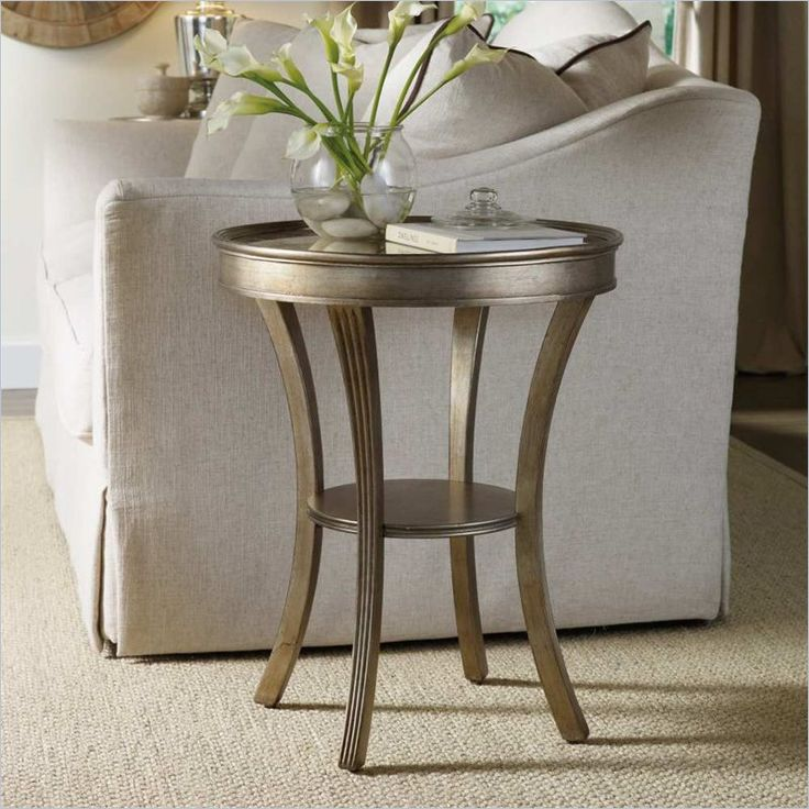 High Quality Hooker Furniture Sanctuary Round Mirrored Accent Table In Visage