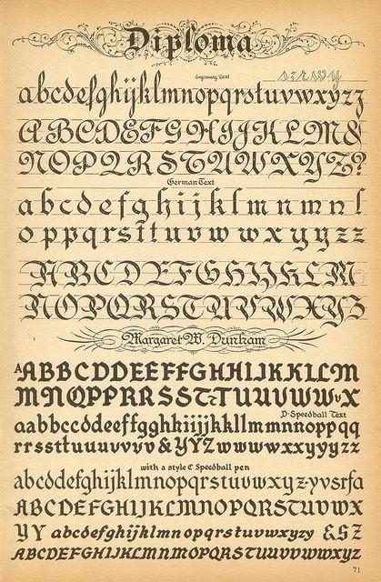 Diploma de tipografía