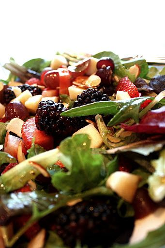 Berry Apple Salad with Balsamic Poppy Seed Dressing