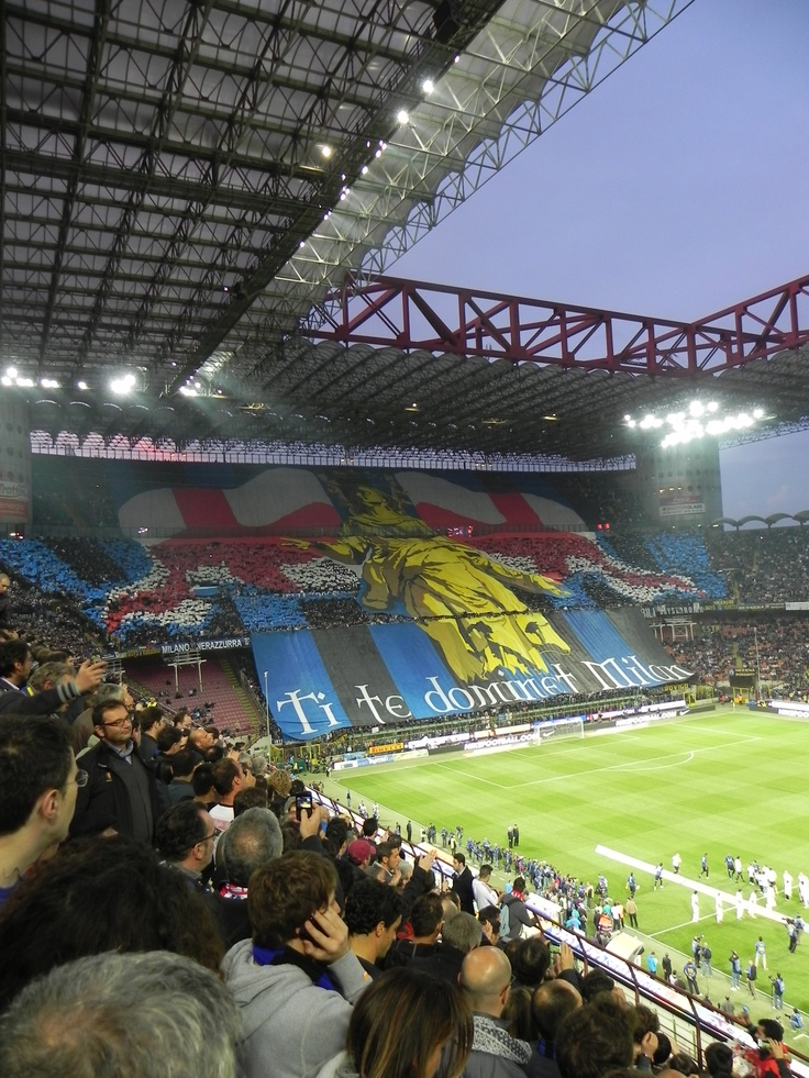 The Milan Derby. May 6th, 2012. I was so lucky to have been there. Inter won 4-2. Ti te dominet Milan = You rule Milan