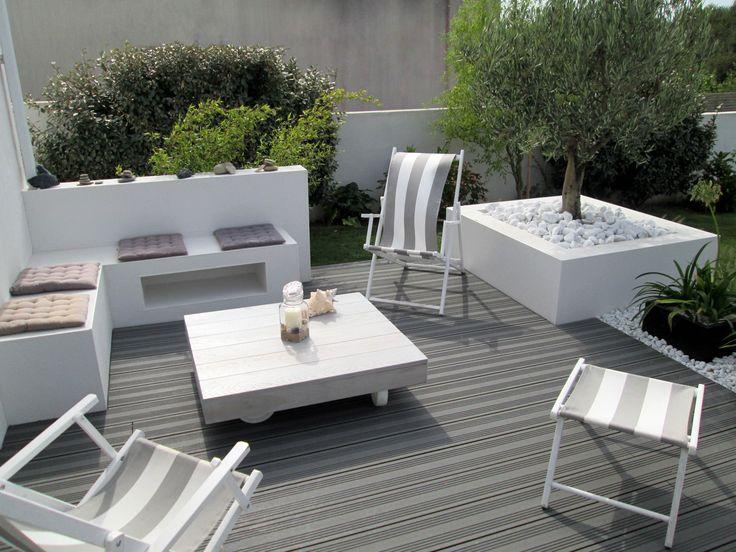 Ocewood® - Terrasse composite Optima - Anthracite. Crédits : Seven Garden.