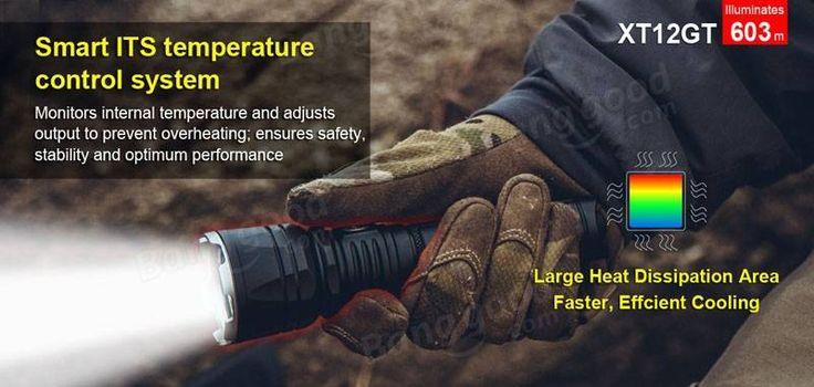 Klarus XT12GT XHP35 HI D4 1600LM Magnetic Charging Tactical Ourdoor LED Flashlight
