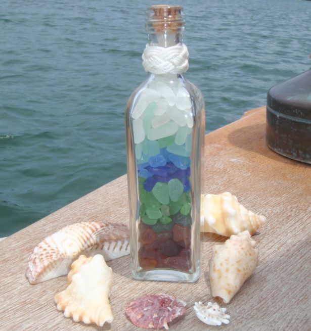 I've been collecting sea glass for a long time and I still can't fill a bottle....nice goal though.