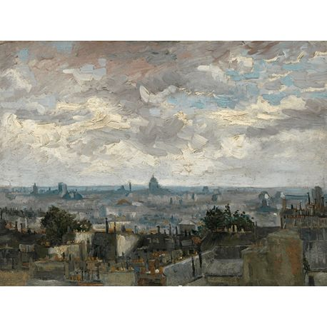 Reprodukcje obrazów Vincent van Gogh View of Paris - Fedkolor
