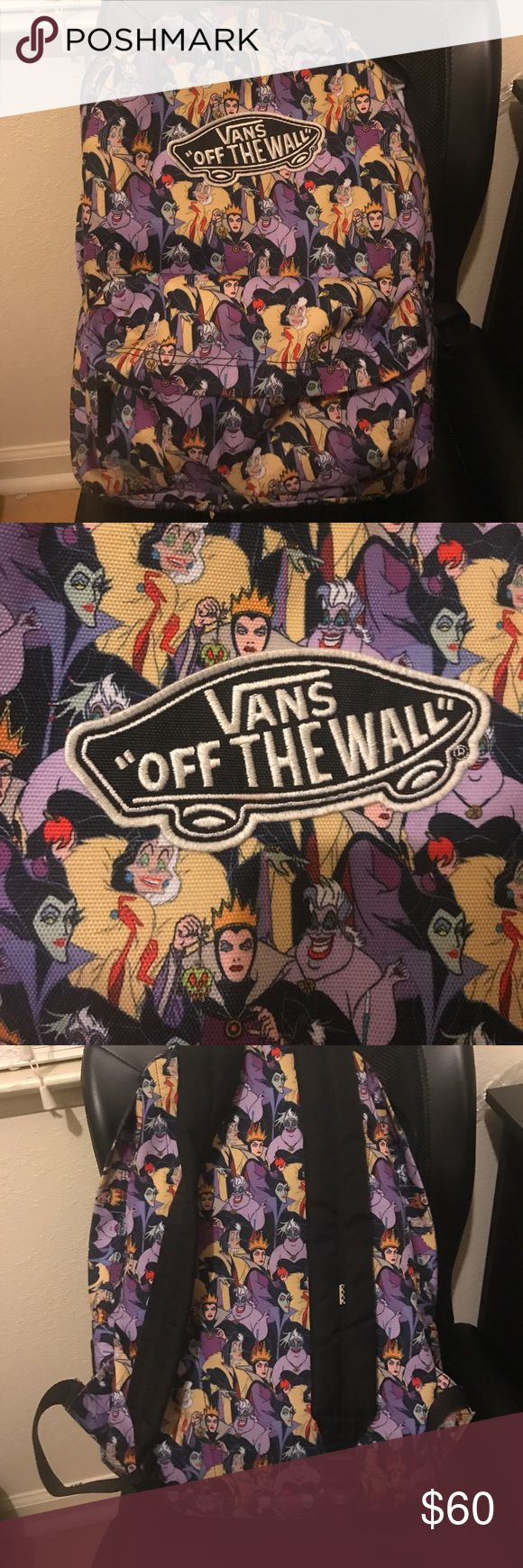 Vans Disney villains book bag Nice sized backpack. Made by vans. Great, strong material. Carried it for a semester. Can't find it in stores anymore. Offers encouraged. Vans Bags Backpacks