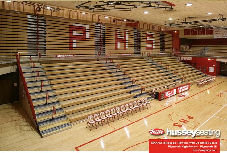 Plymouth High School Maxam Telescopic Gym Seating