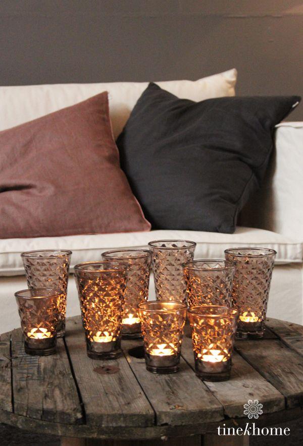 Exceptional DISPLAY :: Tine K Home Hobnail Mercury Glass Candle Holder Display. |  #tinekhome