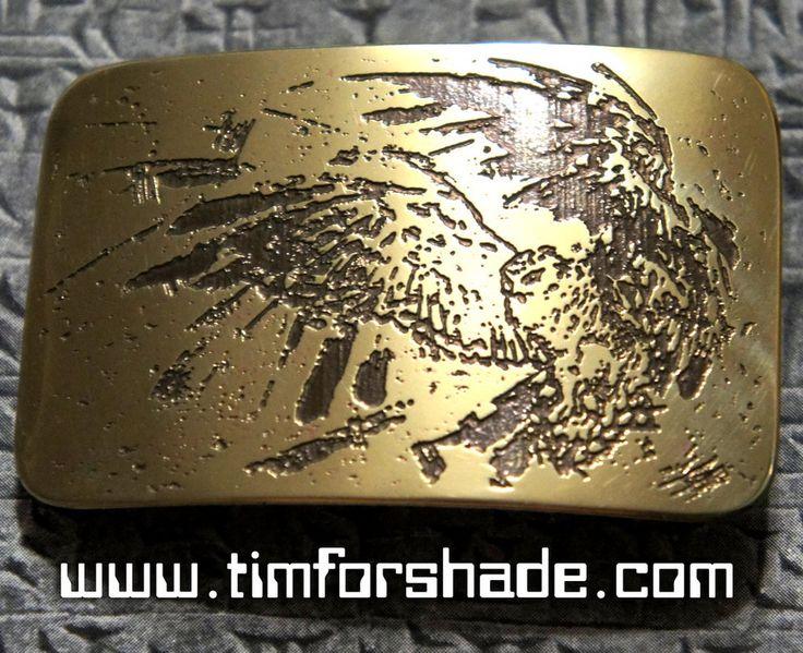 Owl Wise Night Guardian brass belt buckle by TimforShade on DeviantArt
