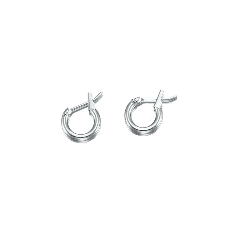 White Gold Layered Very Small Hoop Earring | Allure Gold