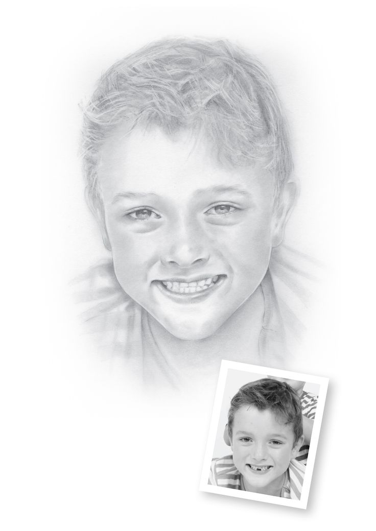 "Pencil Portraits of Boys - Harvey.  ""Harvey just seen it... ""Hey that's me!""  then off he went... think that means he likes!""   Lisa, Auckland, NZ"