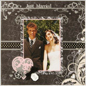 black and white wedding scrapbooking layouts - Google Search