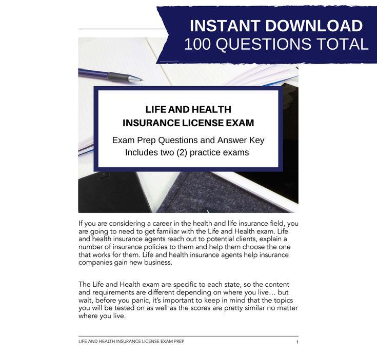 Printable life and health insurance license exam bundle