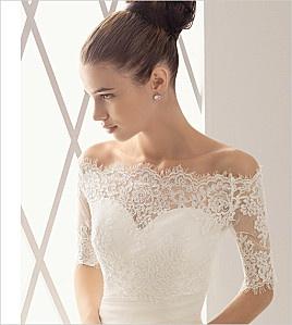 abiti da sposa in pizzo scollo cuore elegante