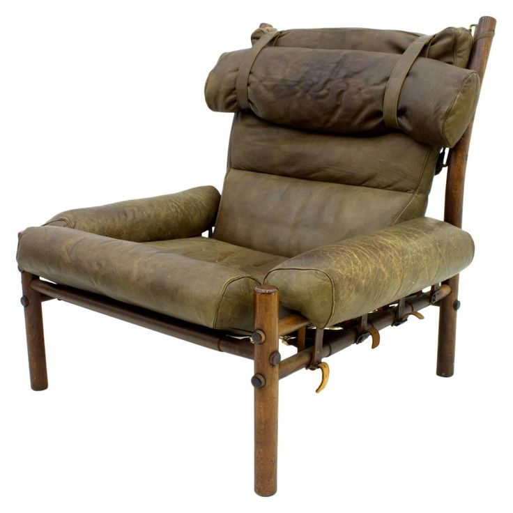 """Arne Norell Lounge Chair """"Inca,"""" Rosewood and Leather, Sweden, 1965"""