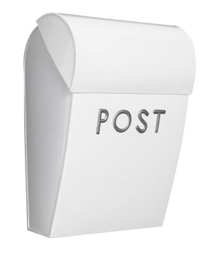 Bruka Postkasse Hvit Stor