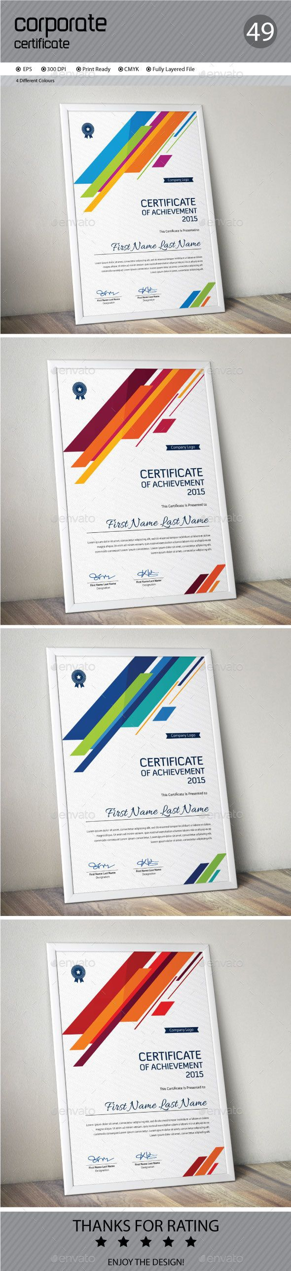 13 best certificate images on pinterest certificate templates certificate template vector eps design download httpgraphicriver yadclub Gallery