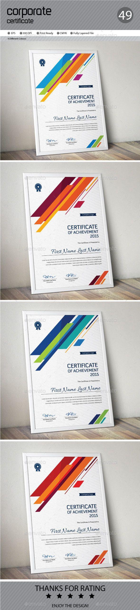 Certificate Template Vector EPS #design Download: http://graphicriver.net/item/certificate/14492553?ref=ksioks