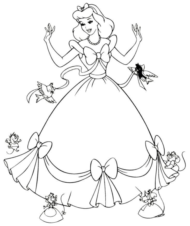 Disney Coloring Pages Free Printable Cinderella Coloring Pages For Kids Ausmalbilder Malvorlagen Zum Ausdrucken Malvorlagen