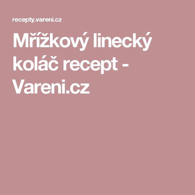 Mřížkový linecký koláč recept - Vareni.cz