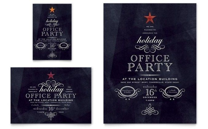 Holiday Seasonal Flyer Templates Word Publisher Flyer Holiday P Office Party Invitations Holiday Party Invitation Template Office Holiday Party Invitation