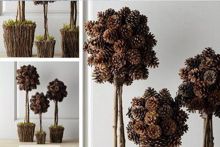 EcoNotas.com: 10 Ideas de Decoracion de Navidad con Piñas de Pino ...